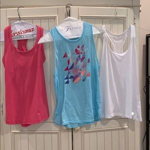 SET OF 3 assorted athletic tanktops